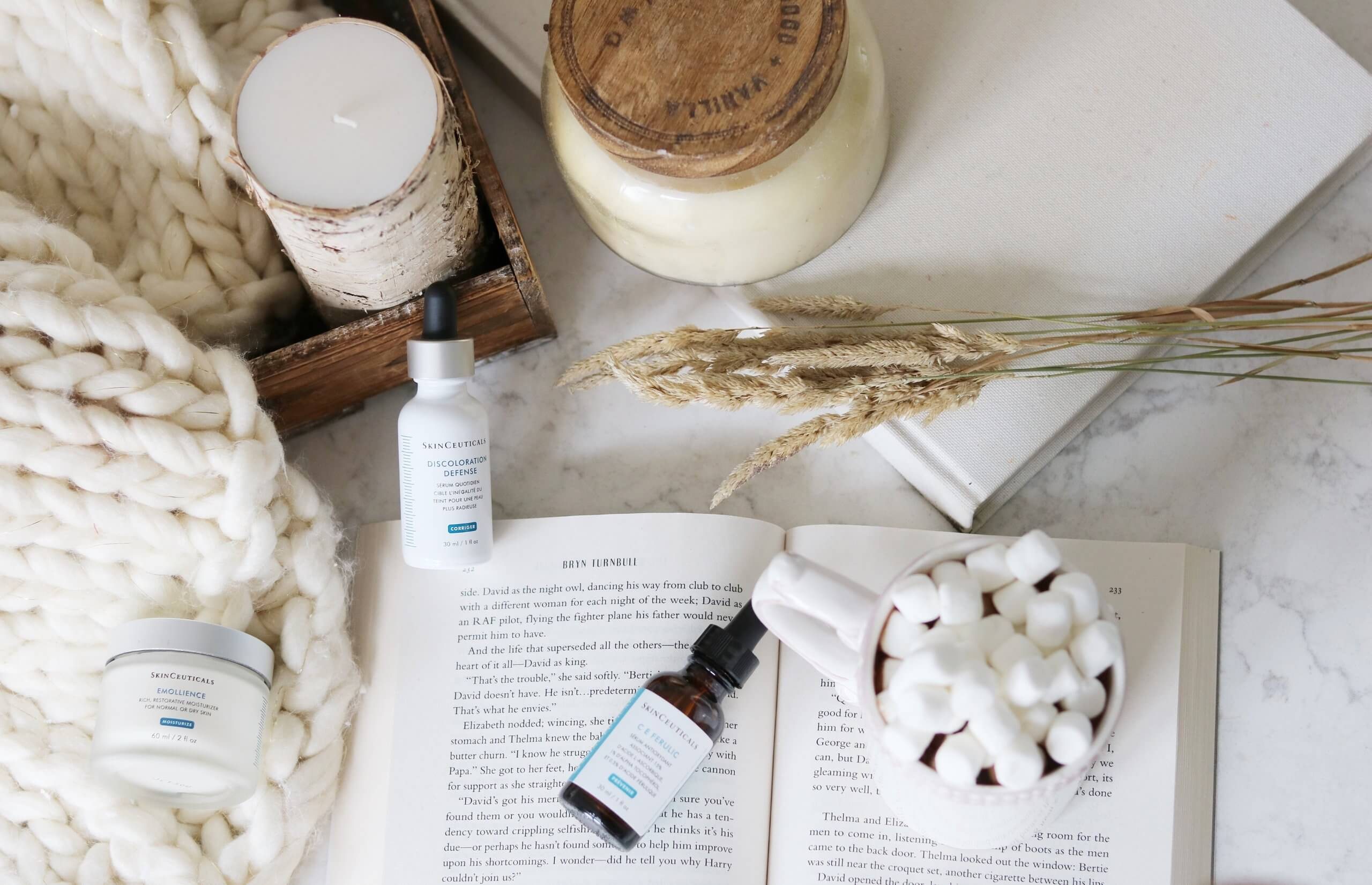 Fall skincare routine with SkinCeuticals; mandy furnis sparkleshinylove