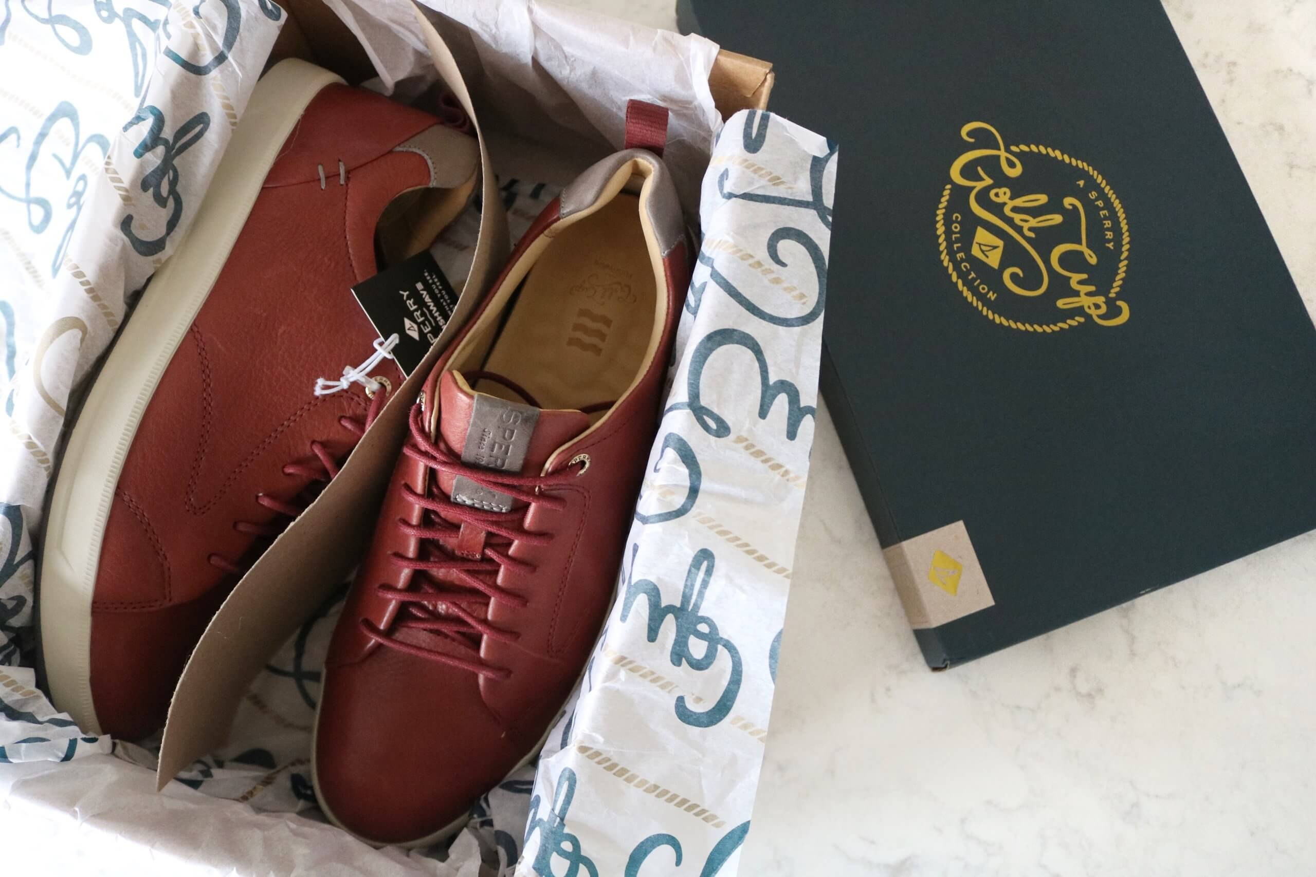 Gifts for the holidays from Sperry; Sperry Alternate Views Gold Cup Richfield PLUSHWAVE Sneaker, Amaretto