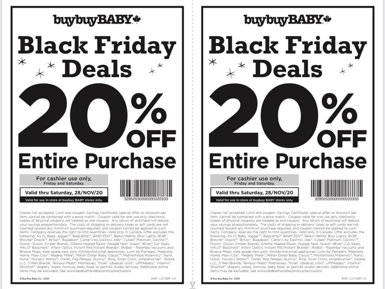 buybuyBaby Whitby Black Friday Sale