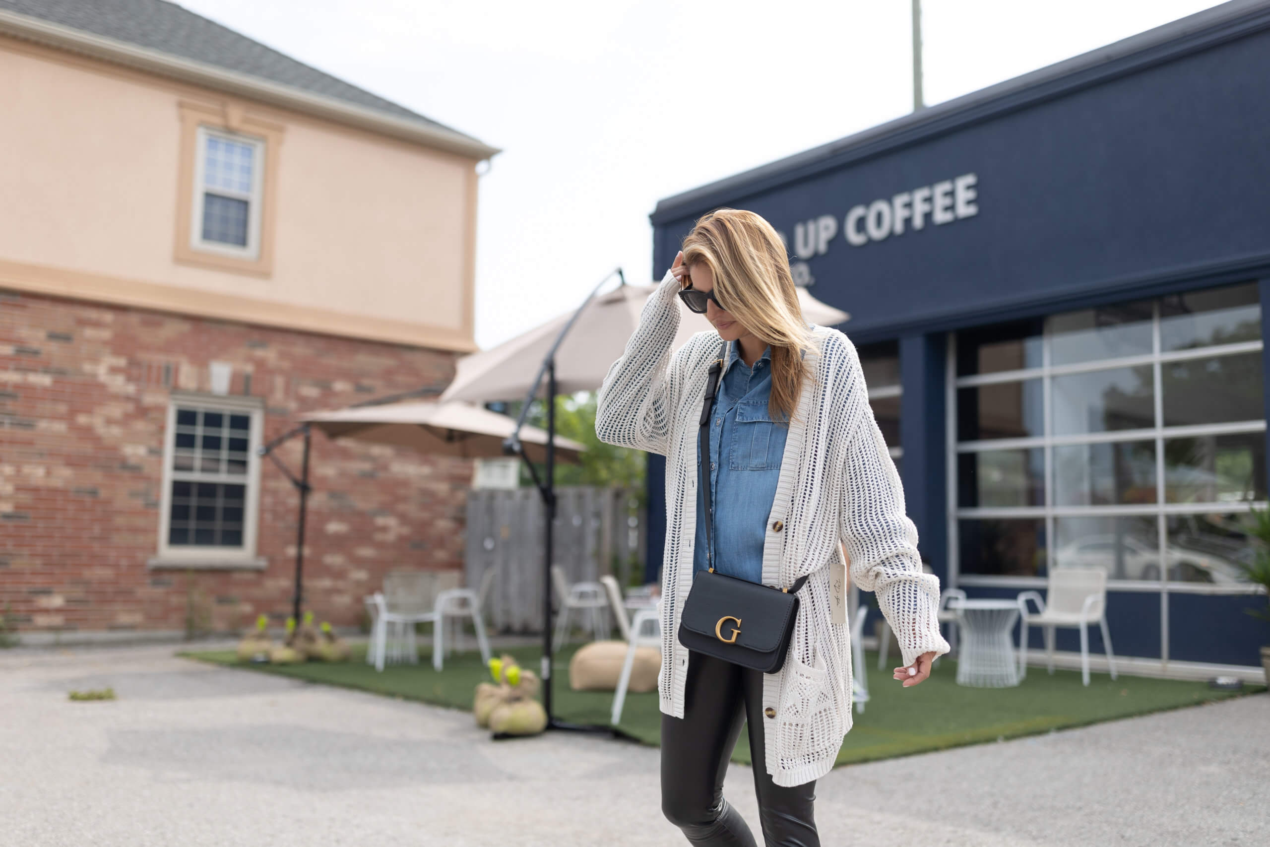 Turquoise Boutique; downtown whitby shopping; whitby; fall style; fall look; faux leather leggings