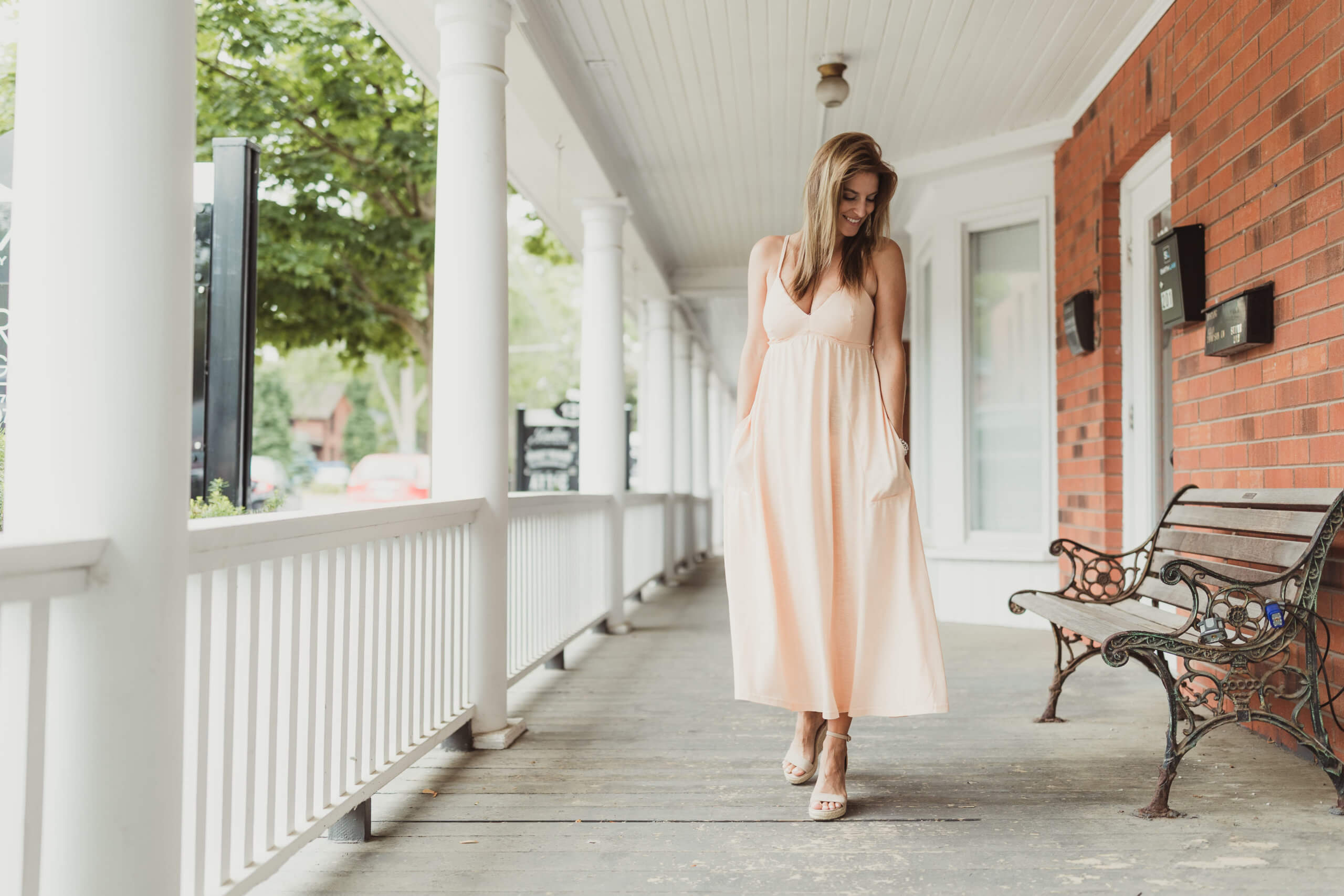 Turquoise Boutique; Turquoise Boutique Whitby; Downtown Whitby shopping; summer maxi dress