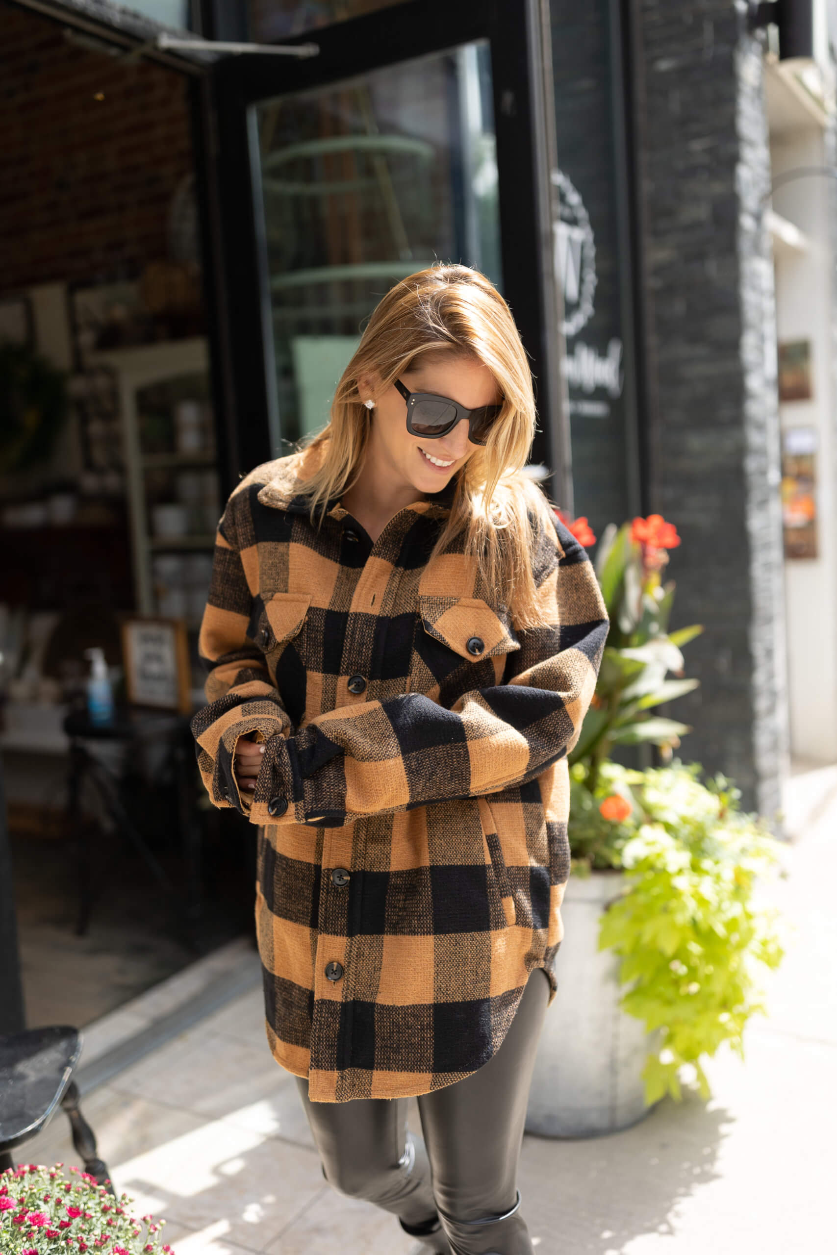 Shacket; fall style; fall outfit ideas; shacket from Turquoise Boutique Whitby